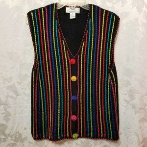 Vintage LISA INTERNATIONAL Rainbow Stripped Sweate